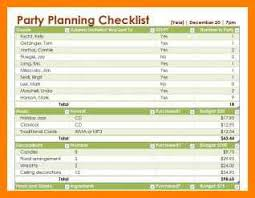 Party Planner Checklist Template 5 Event Planning Checklist Template Excel Business Opportunity