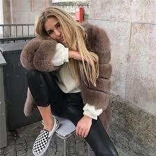 <b>FURSARCAR</b> 2019 <b>Winter Real</b> Fox Fur Women Coats Natural ...