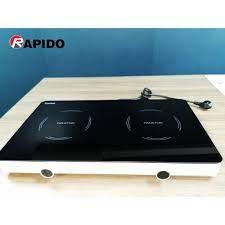 Bếp điện từ đôi dương Rapido RI3000KP công suất 3000W - Hàng chính hãng - Bếp  điện từ đôi