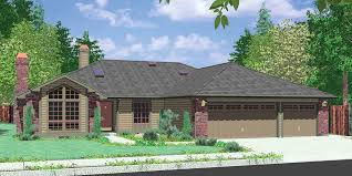 ranch style house plans with garage in front beautiful 3 car garage house plans 3 car