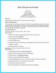 Sample Resume For Bank Tellers New Bank Teller Resume Sample Lovely