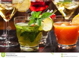 Party Cocktails And Longdrinks For Summer Stock Photo  Image Party Cocktails