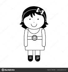 かわいい女の子キャラクター アイコン ストックベクター Yupiramos