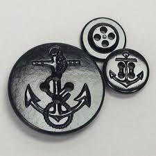 Usn Pea Coat Size Chart Pcb 50 Us Navy Black Pea Coat Button 2 Sizes