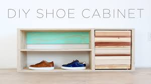How To Make A Shoe Rack Diy Shoe Storage Cabinet Youtube