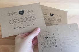 save the date postcards diy