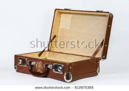 vintage luggage. a brown suitcase. vintage luggage. travel bag. isolated on white background. luggage r