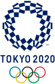 2020 Summer Olympics ( Logo : Japanese Checked pattern. Ichimatsu ...