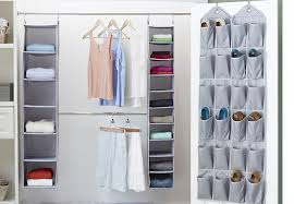 closet with over the door organization