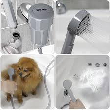 dog shower spray hose pet bathtub attachment hairwash clean tub faucet diverter