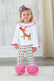 What a fun Christmas outfit for little girls! A frilly reindeer ...