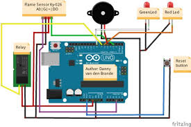 diy flame sensor alarm using ky 026 schematic code and parts list