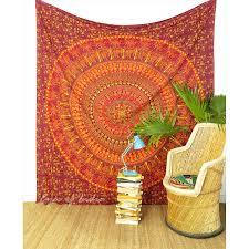burdy red hippie mandala tapestry