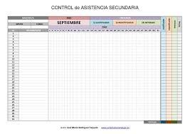 Control De Asistencia Para Infantil Primaria Y Secundaria