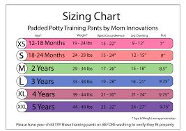 Training Pants Size Chart Potty Training Pants Kits For Girl