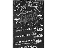 Retro Chalkboard Food Menu Template - Pizza, Snack Bar, Restaurant ...
