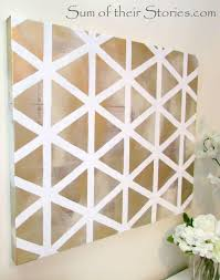 easy diy geometric wall art