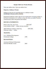 Care Worker Resume Here Goes Free Resume Example Of Child Care Worker Resume
