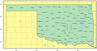 counties map of oklahoma • mapsofnet