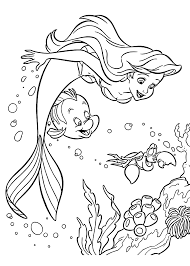 Sebastian And Ariel Coloring Pages For Girls Printable Free Baby