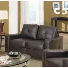 by coaster coaster jasmine brown bonded leather loveseat