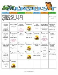 weekly meal plans on a budget august month of meals budget meal plan moms bistro kid friendly