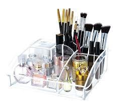 acrylic organizer acrylic tray cosmetic organizer cotton pad makeup brush holder storage acrylic organizer