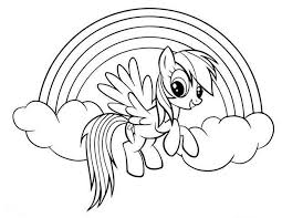 Rainbow Dash Coloring Pages Cartoon Coloring Pages My Little