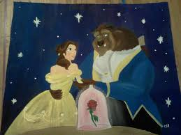 huge beauty and the beast painting by spongebobluvr66