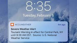 Tsunami warning alert meant as test ...