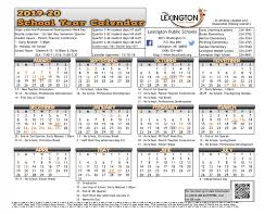 Printable School Year Calendars Homepage Lexington Public Schools