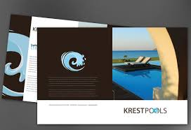 Half Fold Brochure template for Pool Company. Order Custom Half ...