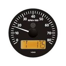marine tachometers vdo marine viewline onyx 8000 rpm tachometer multifunction lcd