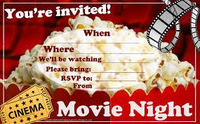 Movie Night Invitation Templates Movie Night Templates Barca Fontanacountryinn Com
