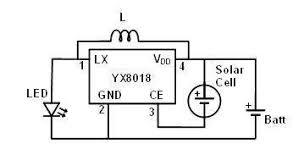 hacking an led solar garden light virtual classroom for figure 2 solar garden light circuit