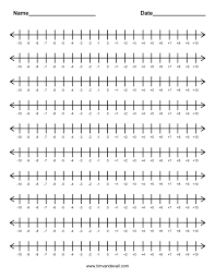 number templates 1 10 kids number lines through free printable childrens line negative