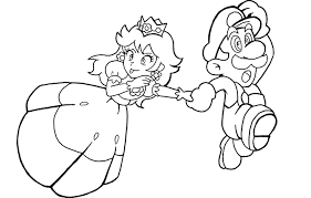 princess peach printable free coloring pages on art