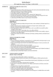 Affiliate Marketing Resume Samples Velvet Jobs