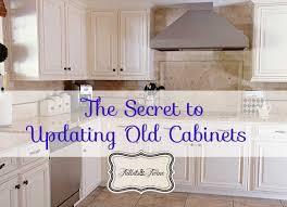 Perfect Tidbitsu0026Twine Updated Old Cabinets