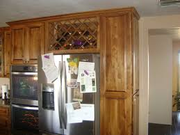 Above Refrigerator Wine Rack Wonderful Next To Fridge Design Ideas