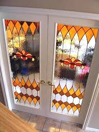 stained glass french doors inserts for