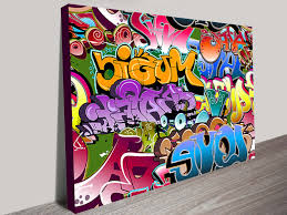 ideal contemporary graffiti canvas wall art picture collection wall eh39