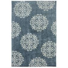 exploded medallions blue woven 8 ft x 10 ft area rug