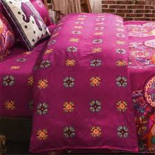 national style recto prune reversible duvet cover bed sheet with pillow sham boho mandala bedding set twin