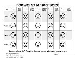 Behavior Smiley Chart Smiley Behavior Chart