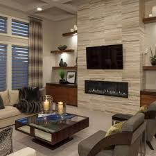 Living room furniture design Modular Example Of Trendy Formal Carpeted Living Room Design In Omaha With Ribbon Fireplace Houzz 75 Most Popular Contemporary Living Room Design Ideas For 2019