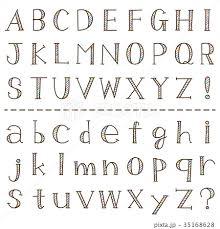 アルファベット 小文字 かわいい イラストの写真素材 Pixta