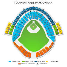 Td Ameritrade Park Seating Chart With Rows 2020 College World Series Game 3 Tickets 6 14 2020 1 00