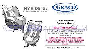 graco baby care my ride 65 lx convertible car seat 1813074 owner s rh baby care getusermanual com graco car seat owner s manual graco forever car seat