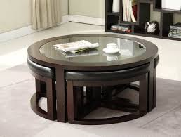 round glass top coffee table with leather padded ottomans underneath 16 pictures of sophisticated coffee